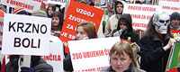 Photo of the month - Wide-angle view of protest against fur in Zagreb [ 139.16 Kb ]