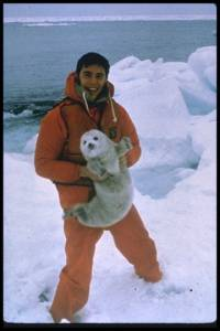 Source: www.animalphotolibrary.com - An activist saves a seal pup [ 41.77 Kb ]