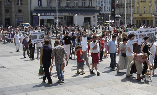 Protest on Ban Jelacic Square 7