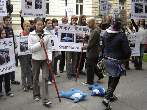 Japan Dolphin Day protest 1