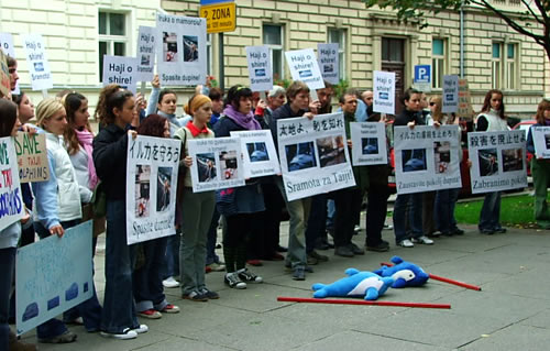 Japan Dolphin Day protest 2