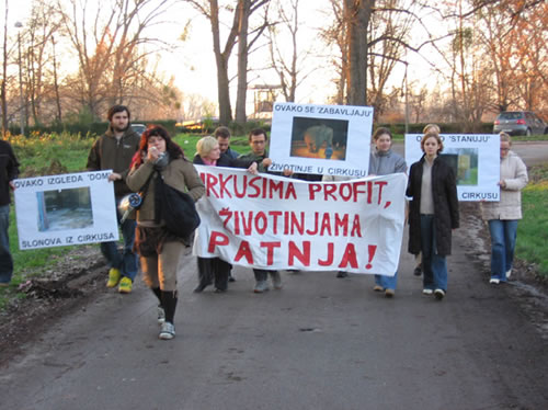 Protest against Gärtner in Osijek 1