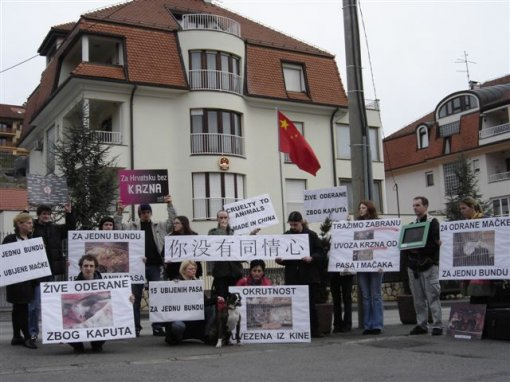 Protest in front of the Chinese Embassy 5