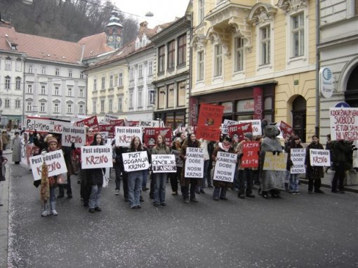 Carnival anti-fur demo in Ljubljana 24