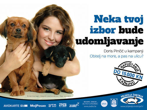 Doris Pinčić in campaign 'Family to the Seaside, Dog to the Street?' [ 371.62 Kb ]